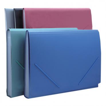 HS431: elastic closure opaque pocket file