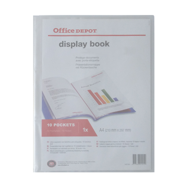 HS651: display book with cover pocket